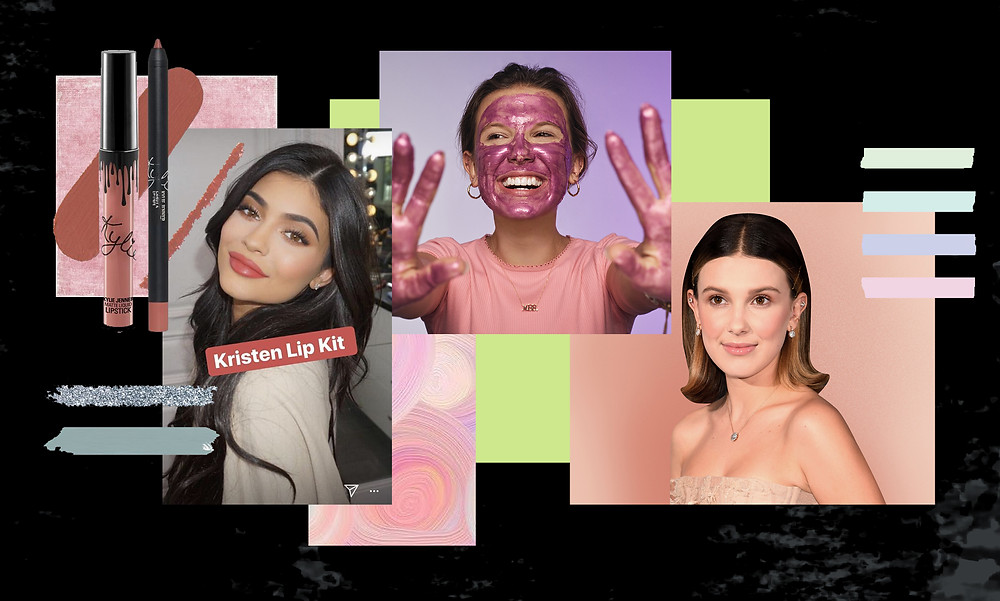 Kylie Jenner, Kylie cosmetics and Millie Bobby Brown