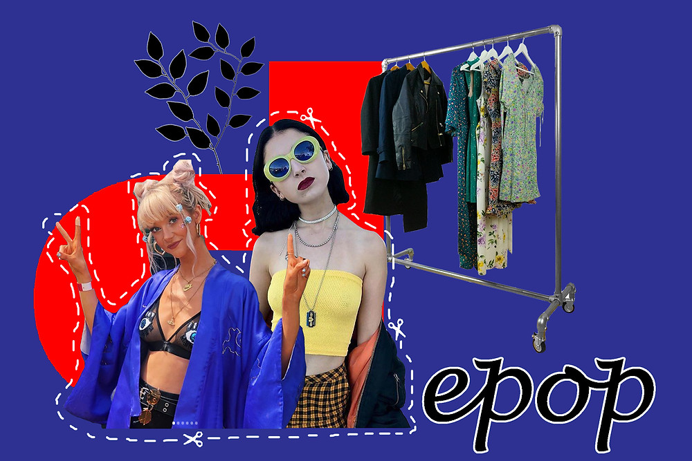 Internet Girl (aka Bella McFadden) and Charlotte Coulthard (owner of Essii Store)