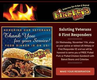Honoring Vets Safe Holiday Catering Than