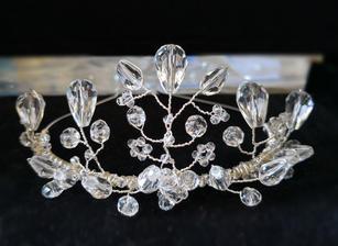 Clear crystal tiara