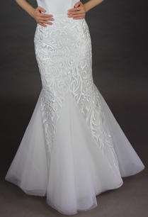 Lace Over-lay Mermaid silhouette