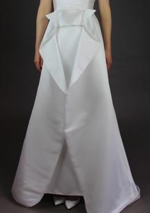 Open front satin over-skirt