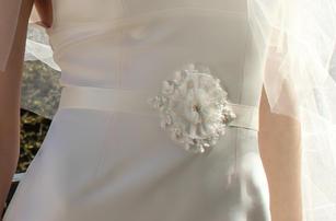 Lace flower sash