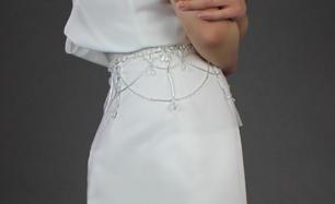 Crystal drop style illusion belt