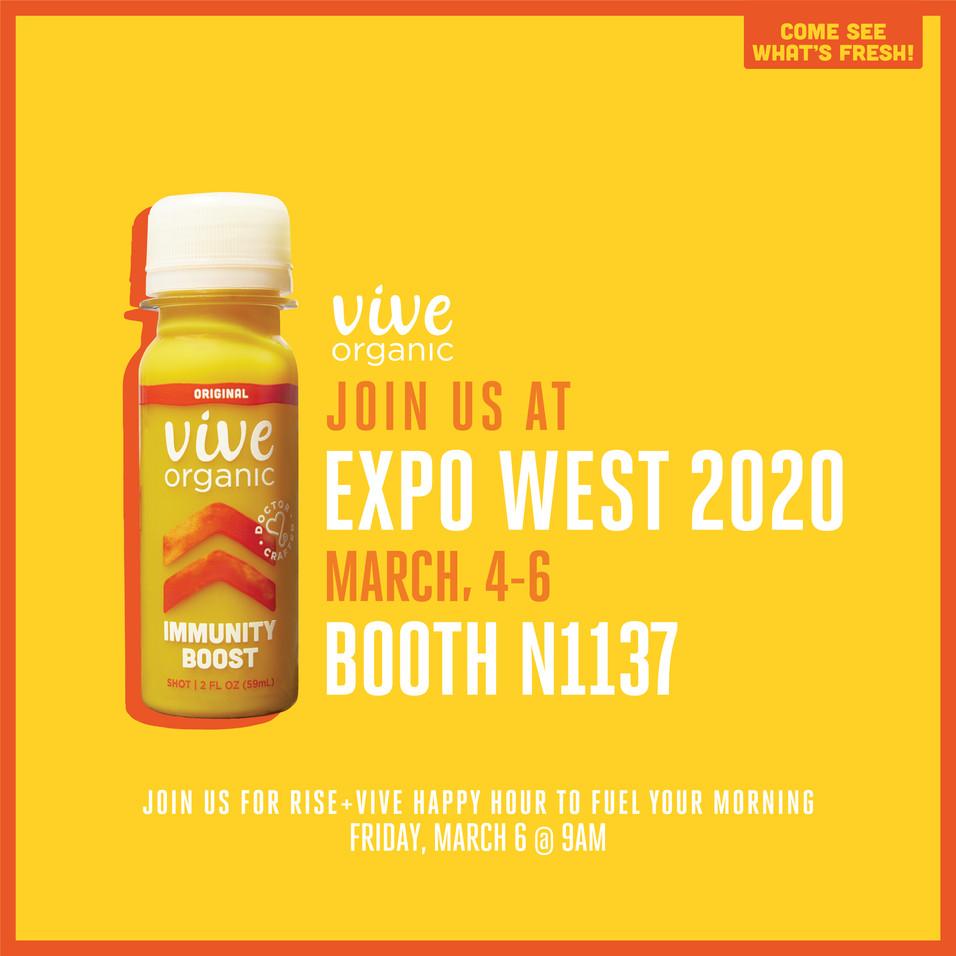 VIVE ORGANIC | Tradeshow Invite