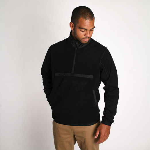 Onward Polar Fleece-Model-Black-Front-3.