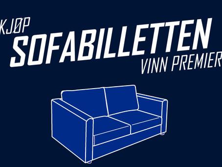 Kjøp sofabilletten - vinn premier!