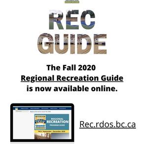 Recreation Guide, Autumn 2020
