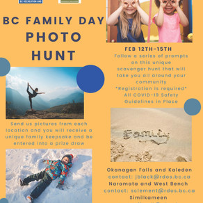 BC Family Day PHOTO HUNT