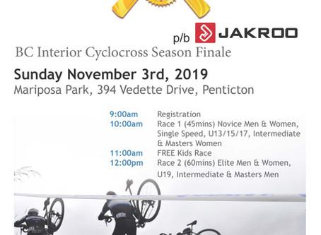 Mariposa Park - Cyclocross Sun., Nov. 3rd, 2019