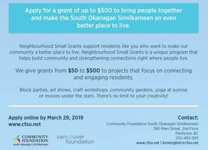 2019 Neighbourhood Small Grants Application