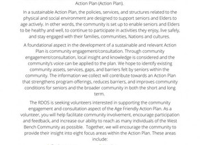 Call for Volunteers - Age Friendly Action Plan!