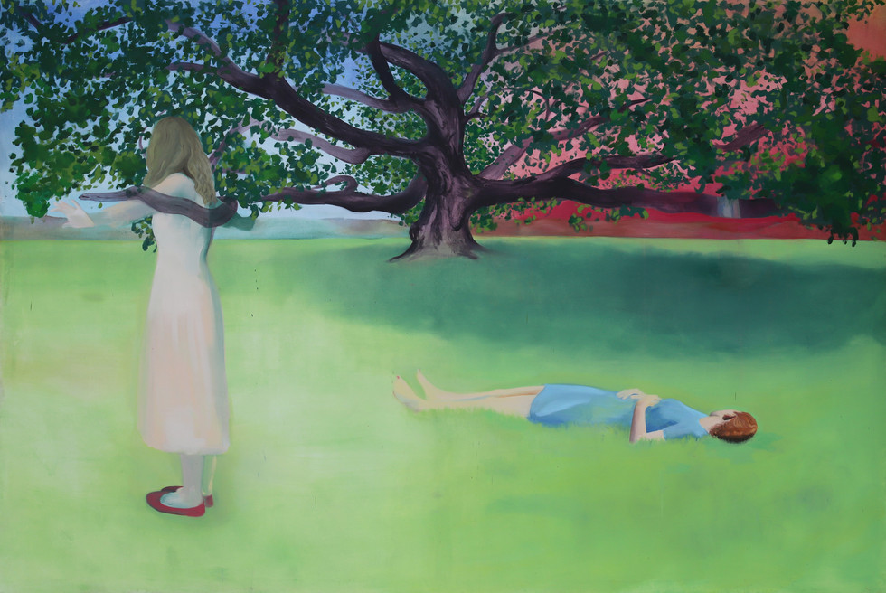 The witches's oak, 2019, oil on canvas, 200x300cm