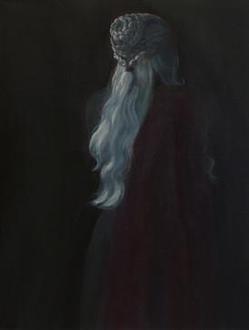 Generazione di streghe - Daenerys (Generation of the Witches - Daenerys), 2021, oil on linen, 80x60 cm