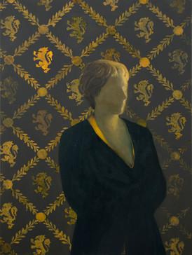 Generazione di streghe - Cersei (Generation of the Witches - Cersei), 2021, oil on linen, 80x60 cm cm