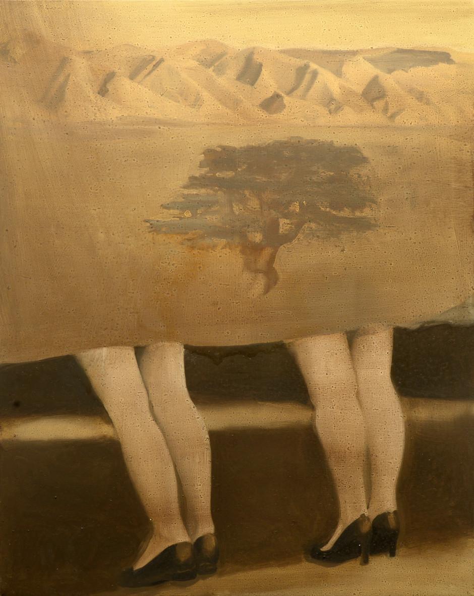 Behind the Eden, 2016, oil on canvas, 100x70 cm