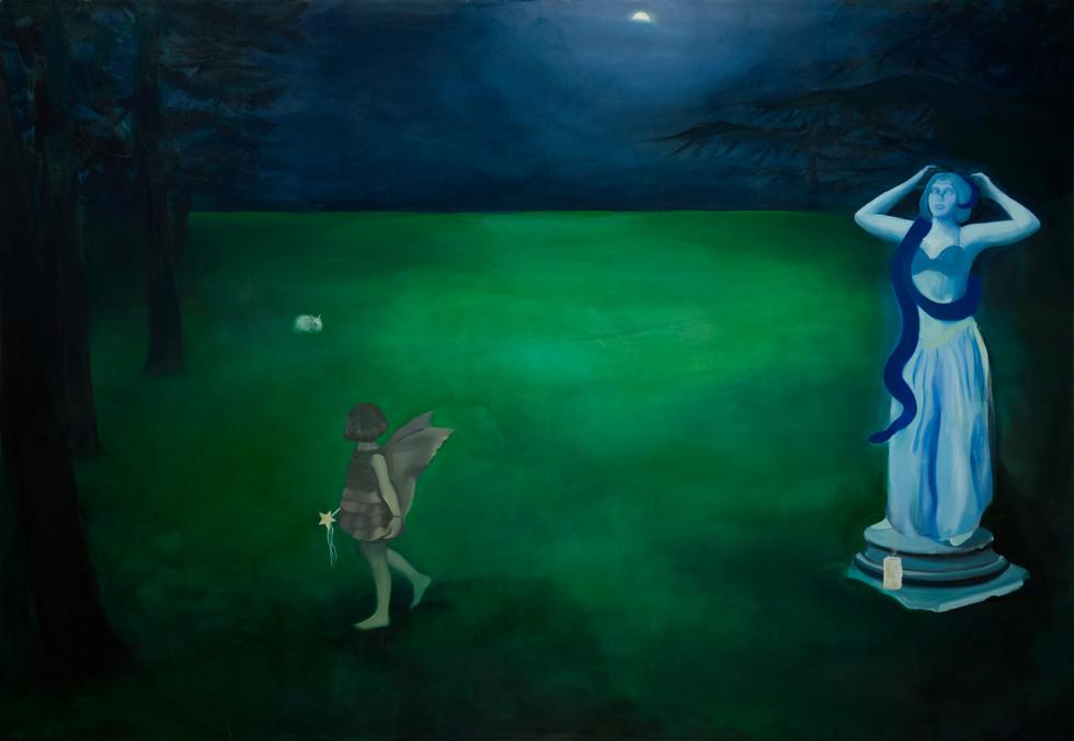 The Sanctuary, 2020, oil on canvas, 199 x 289 cm