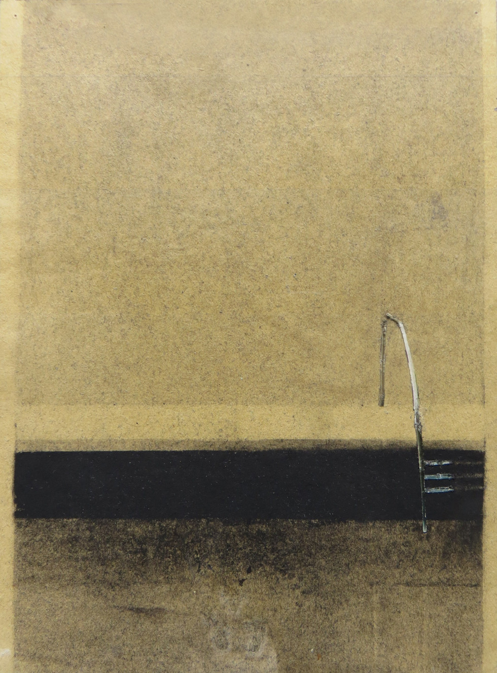 Observing in silence, series of drawings from 2013 to 2015, charcoal on paper, 20x15 cm