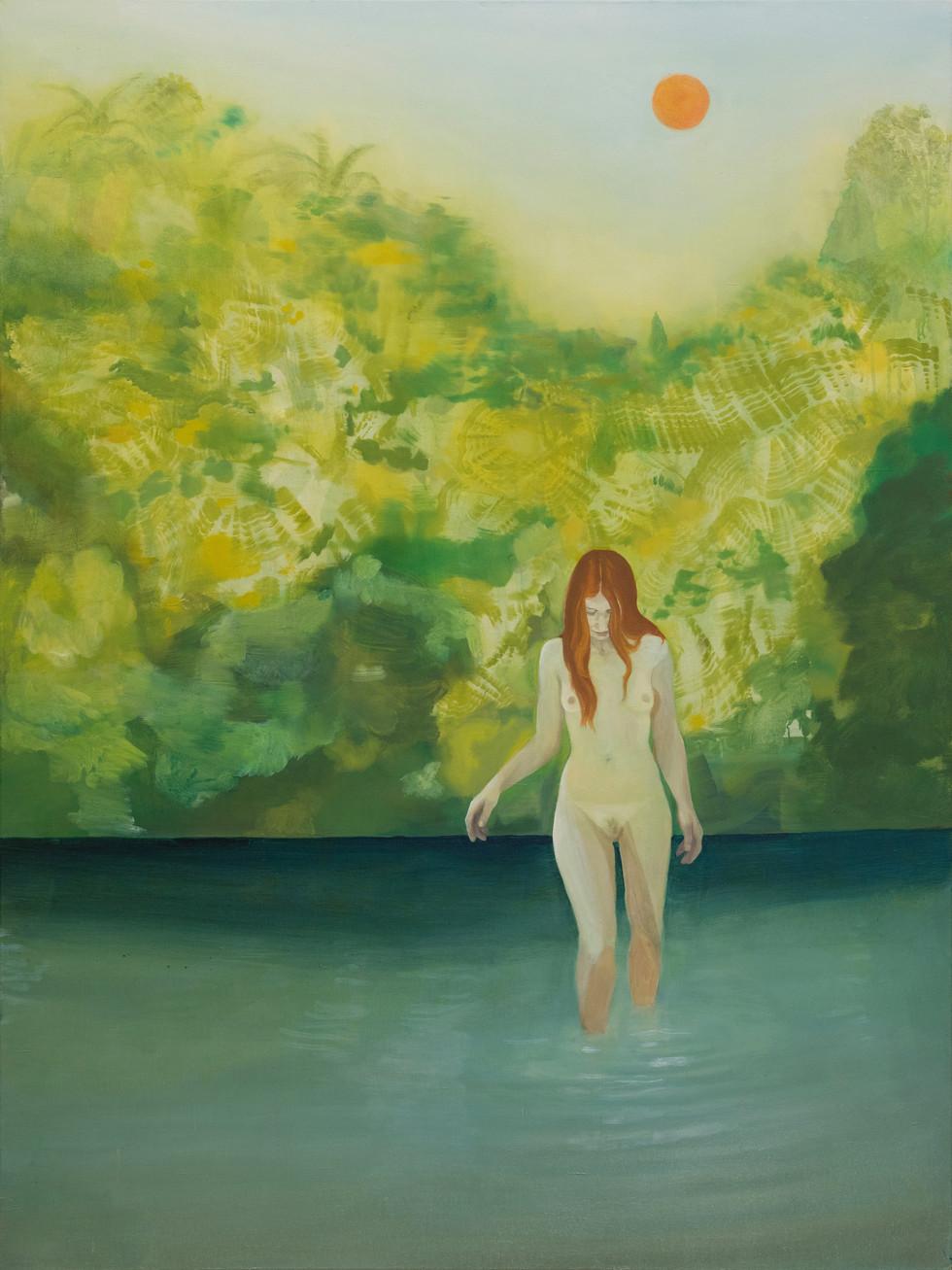 Qui tramonta (Trumusiate), 2020, oil on linen, 200x150 cm