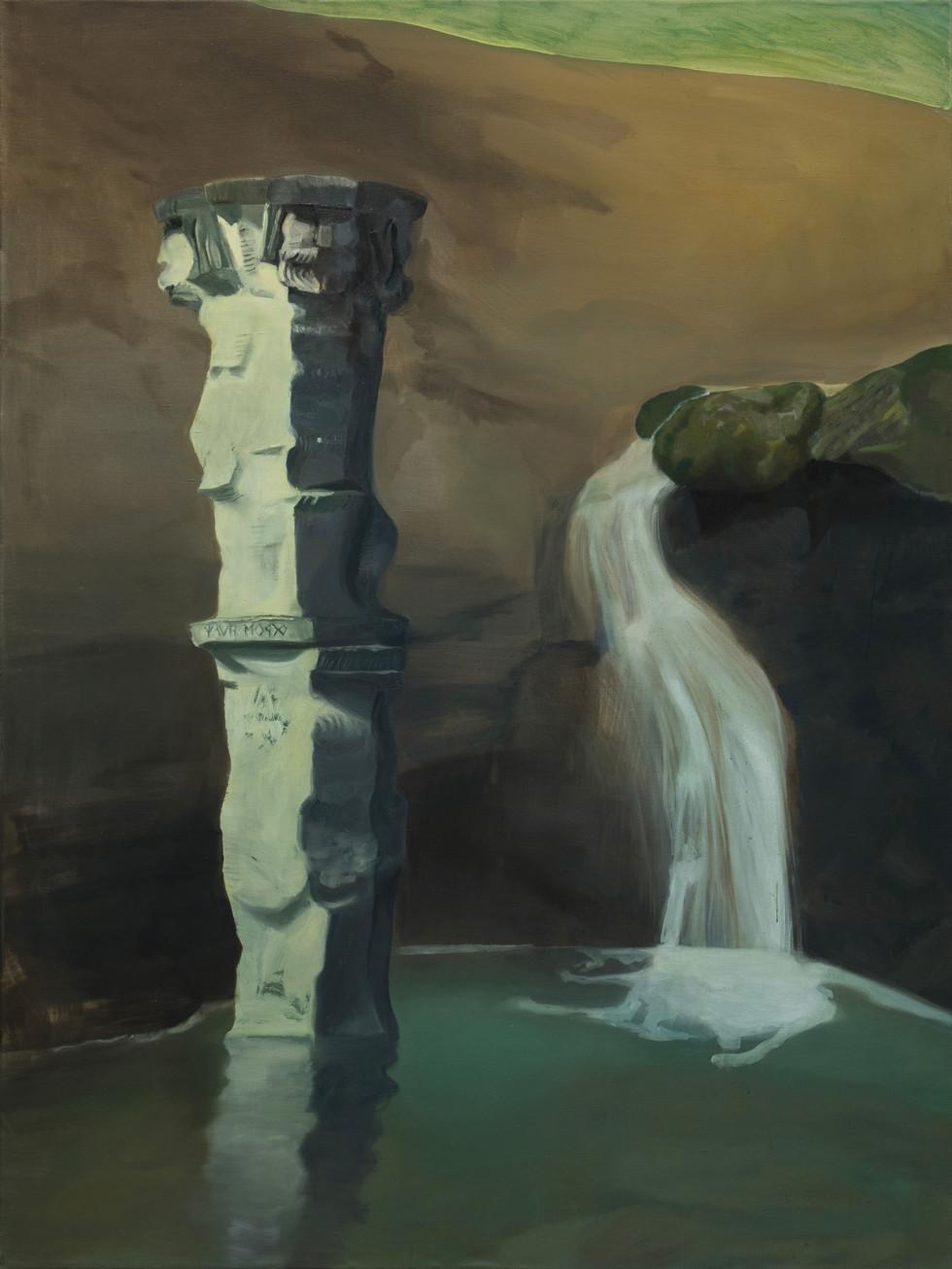 Qui sorge (Trumusiate), 2020, oil on linen, 200x150 cm