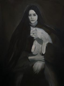 Generazione di streghe (Generation of the Witches), 2021, oil on linen, 80x60 cm
