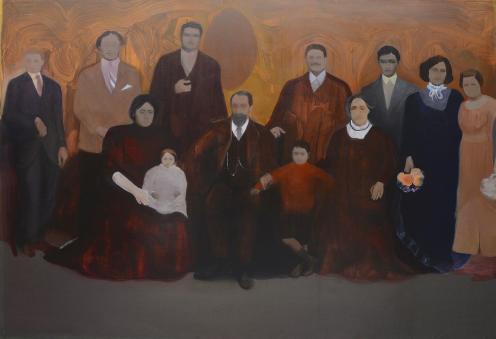 L'importanza delle origini II, 2018-2019, oil canvas, 200x290 cm