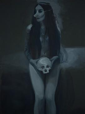Generazione di streghe (Generation of the Witches), 2021, oil on linen, 80x60 cm cm