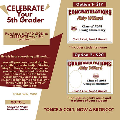 5th Grade Yard Sign Flyer 2021 -  Made w
