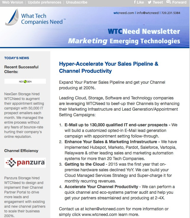 WTCNeed Spring 2016 Newsletter
