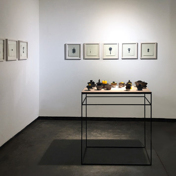 Ruhama - Installation view, Drawings and