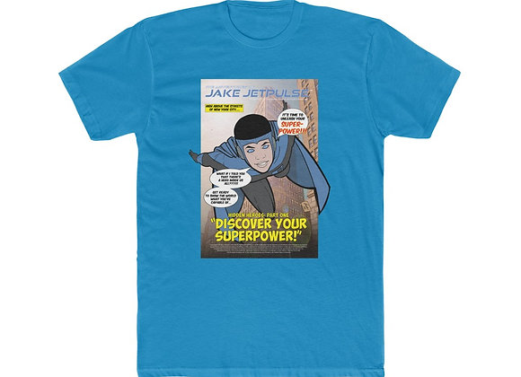 "Jake Jetpulse™ ""Discover Your Superpower"" Unisex Ringer Tee"