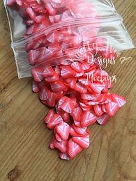 10 gram bag Clay strawberry fruit slices 5mm