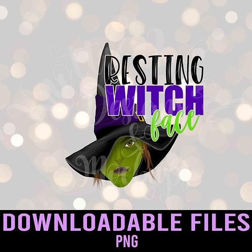 Resting Witch Face Sublimation - Downloadable Design