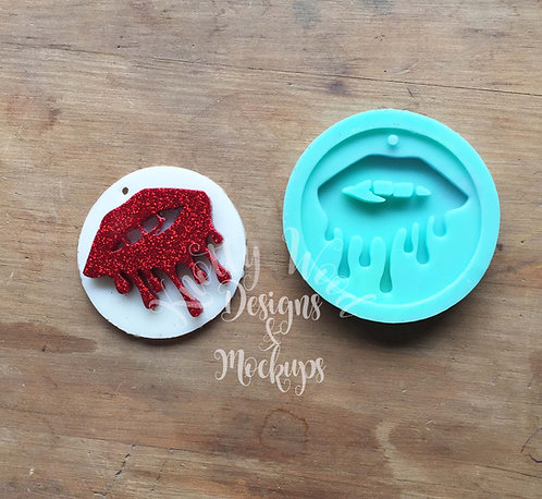 Dripping Lips silicone Mold / Keychain Mold