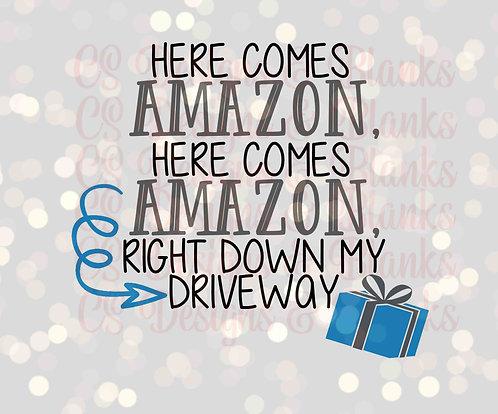 Here Comes Amazon blue - Downloadable Design File