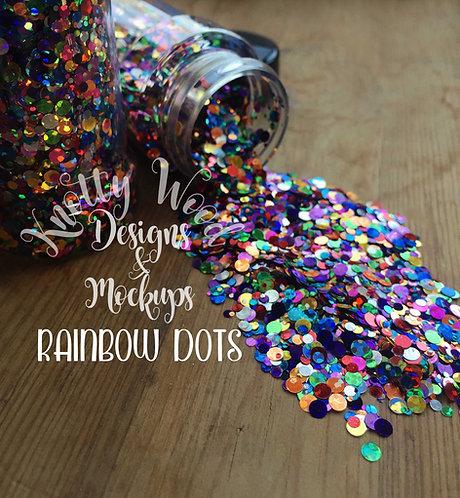 Rainbow Dots Glitter / Rainbow Confetti Glitter