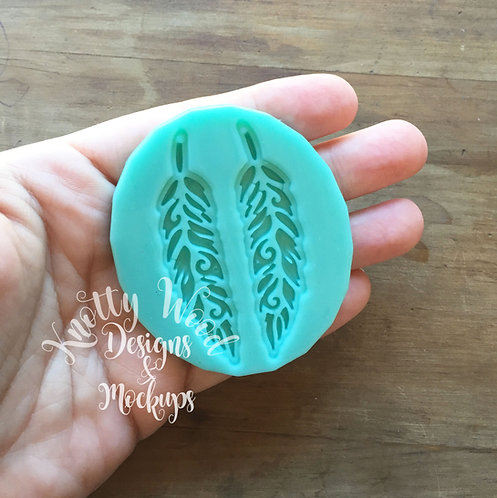 Feather Earrings silicone Mold / Jewelry Mold