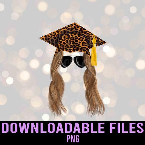 Grad leopard cap sublimation - Graduation PNG - Downloadable File
