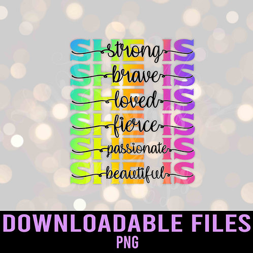 She Is PNG - Downloadable File