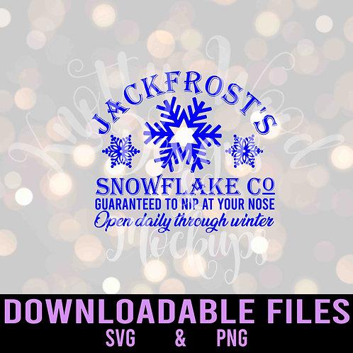 Jack Frost Snowflake Co SVG - Downloadable Design File