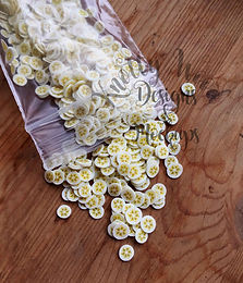 10 gram bag Clay banana fruit slices 5mm