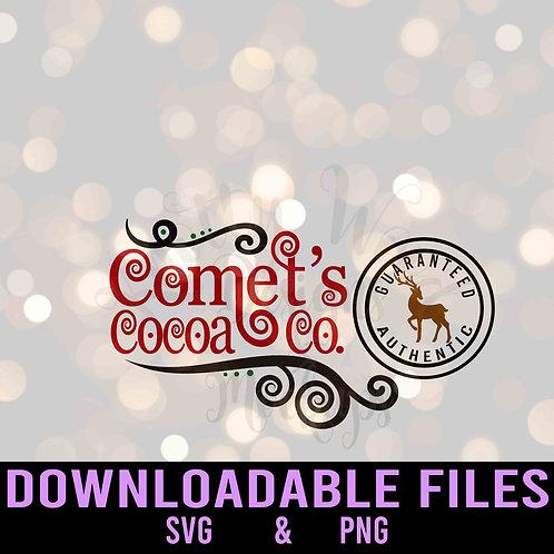 Comet's Cocoa Co - SVG Downloadable De