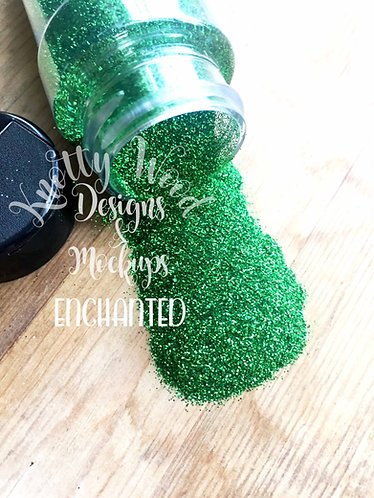 Enchanted Glitter / Extra Fine Green Glitter / 1/128 glitter / Christmas