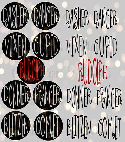 Reindeer Name Rounds - Downloadable Design File