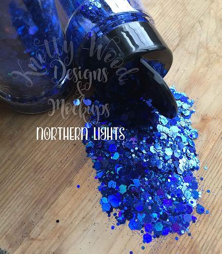 Northern Lights Blue Chunky mix Glitter