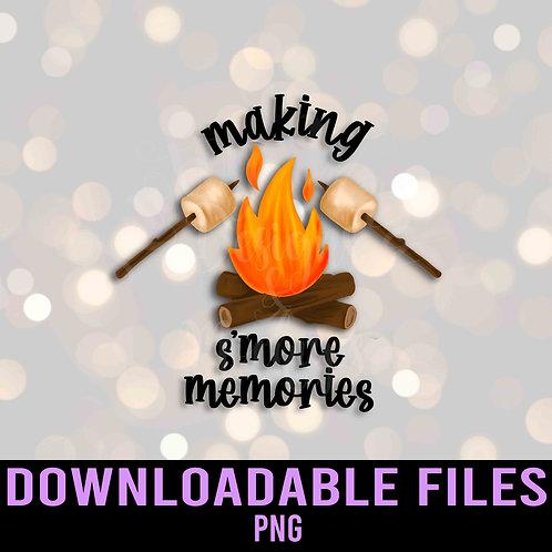 Making S'more Memories PNG - Downloadable File