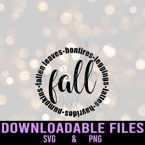 Fall Circle SVG - Downloadable file