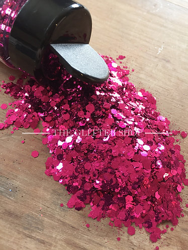 Berry / Chunky Mix Glitter / Bright Pink Glitter