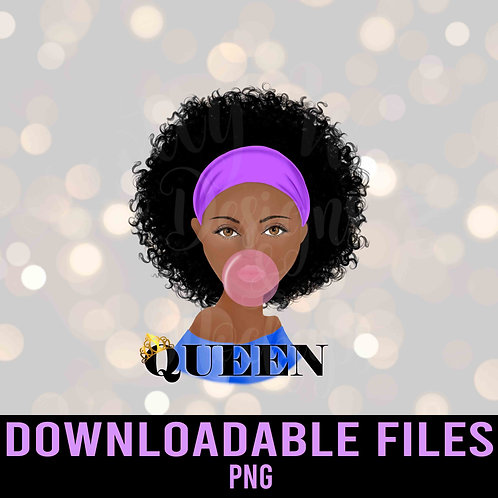 Queen Blowing Bubble PNG - Downloadable File