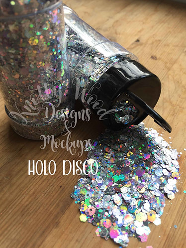 Holo Disco Silver Chunky mix Glitter